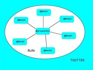 bulle twitter reseau