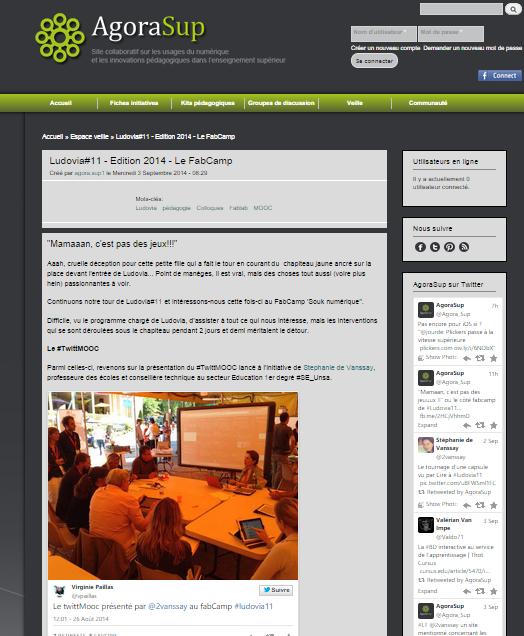 le 08/09/2014 sur AgoraSup