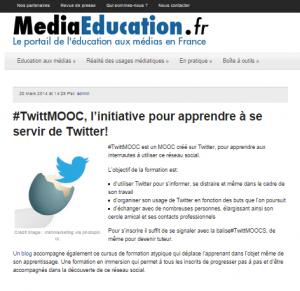 le 20/03/2014 sur MediaEducation.fr