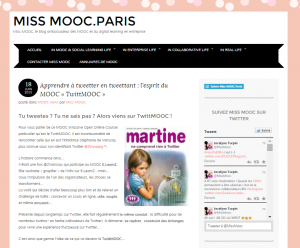 le 18/06/2015 sur Miss Mooc.Paris
