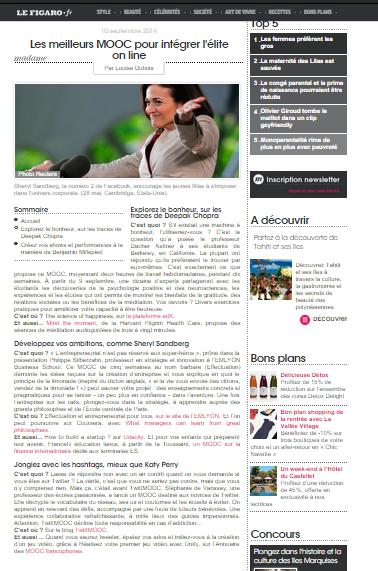 le 10/09/2014 sur Madame Figaro